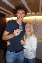 6th edition - Overal winners Samo Jeranko and Neza Cec with prizes from Inge Verbruggen