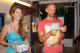 9th edition - Organizer Wendy Timmermans and World Champion Mateusz Malina announcing a prize winner